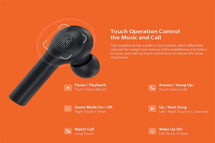 کنترل لمسی هدفون بلوتوث بی سیم QCY T5